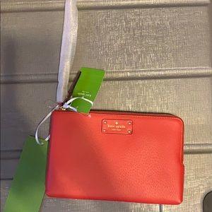 Red Kate Spade Wristlet